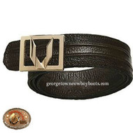 Vestigium Ostrich Leg Belt W Interchangeable Gold/Silver Buckle 7C150507