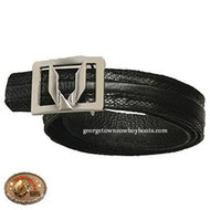 Vestigium Python Belt With Interchangeable Gold & Silver Buckle 7C15707