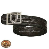 Vestigium Sharkskin Belt W Interchangeable Gold & Silver Buckle 7C159307