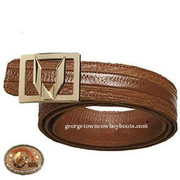 Vestigium Sharkskin Belt W Interchangeable Gold & Silver Buckle 7C159303