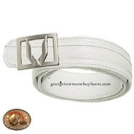 Vestigium Sharkskin Belt W Interchangeable Gold & Silver Buckle 7C159328