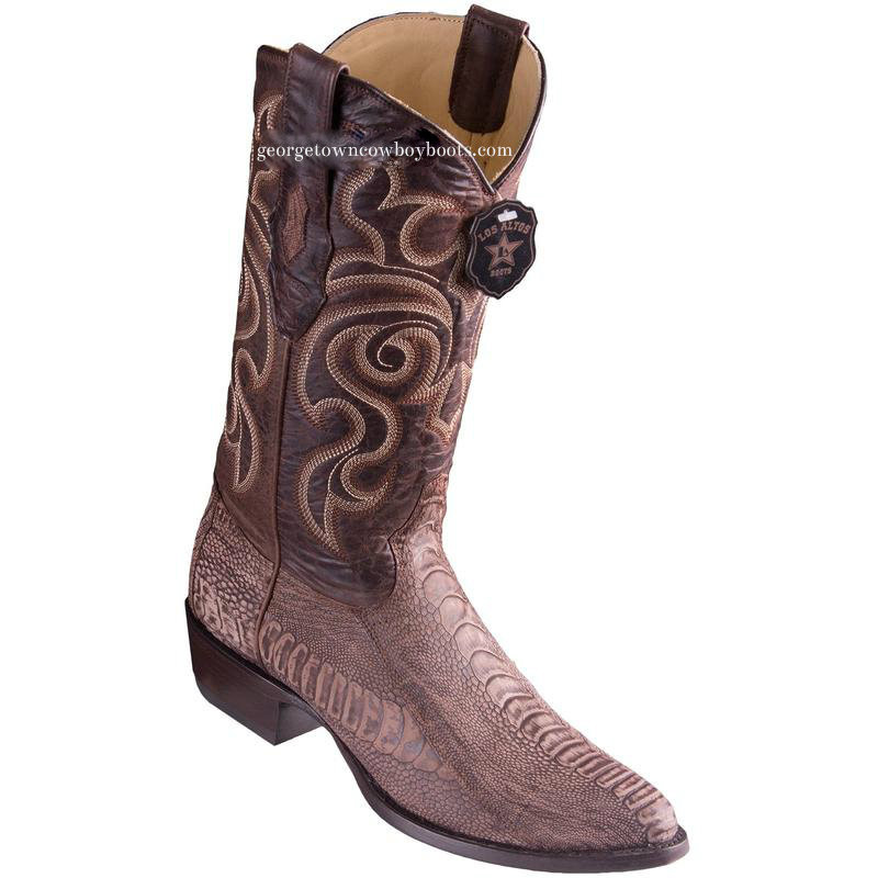 515525e72b5 Men's Los Altos Ostrich Leg Boots Round Toe Handcrafted 650535