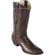 Men's Los Altos Ostrich Leg Medium Round Toe Boots Handcrafted 600507