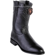 Men's Los Altos Roper Boots Elk Leather Round Toe Handcrafted 805105