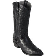 Men's Los Altos Full Quill Ostrich Medium Round Toe Boots Handcrafted 600305