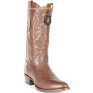 Men's Los Altos Round Toe Leather Cowboy Boots Handmade 653807