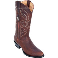 Men's Los Altos Medium Round Toe Rage Leather Boots Handmade 609940
