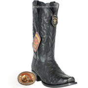 Men's Los Altos Full Quill Ostrich 7 Toe Boots Handcrafted 580305