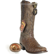 Men's Los Altos Full Quill Ostrich 7 Toe Boots Handcrafted 580307