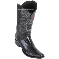 Men's Los Altos Ostrich Leg Boots European Square Toe Handcrafted 760505
