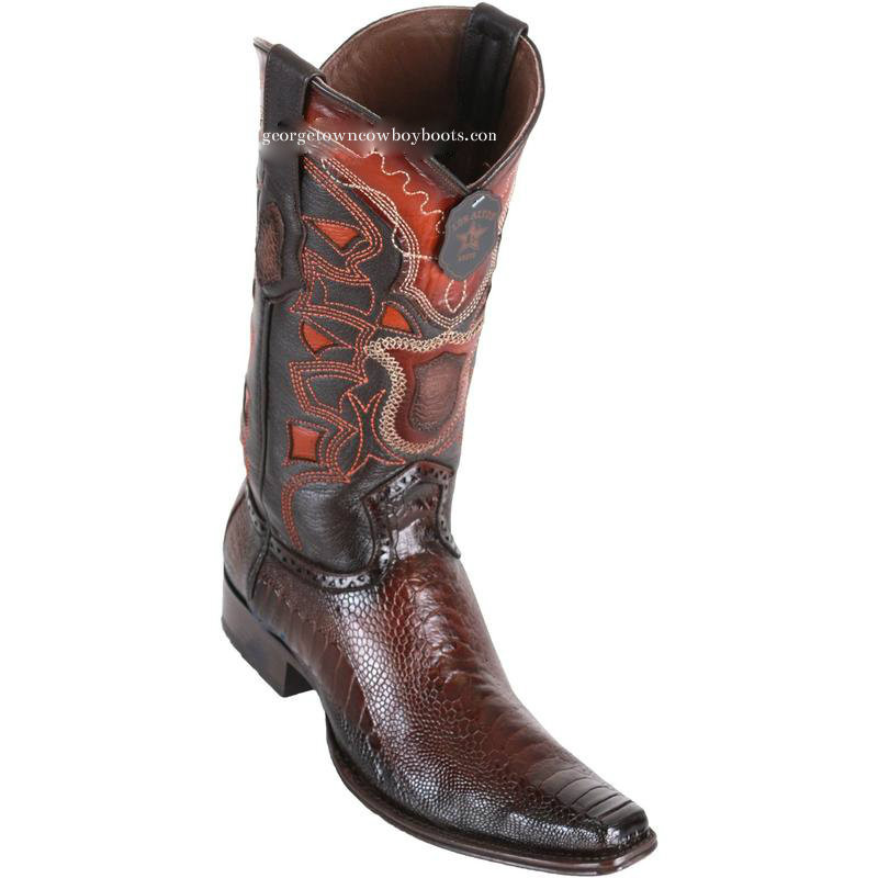 653641207a Men s Los Altos Ostrich Leg Boots European Square Toe Handcrafted 760516 -  georgetowncowboyboots