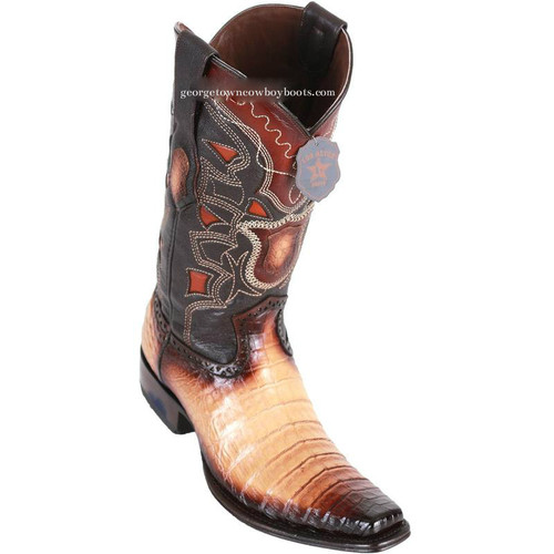 Men's Los Altos Caiman Belly Boots European Square Toe Handcrafted 768215