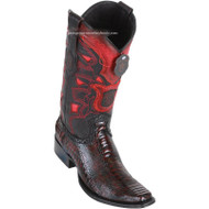Men's Los Altos Ostrich Leg Boots European Square Toe Handcrafted 760518