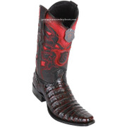 Men's Los Altos Caiman Belly Boots European Square Toe Handcrafted 768218
