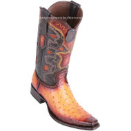 Men's Los Altos Full Quill Ostrich Boots European Square Toe Handcrafted 760301