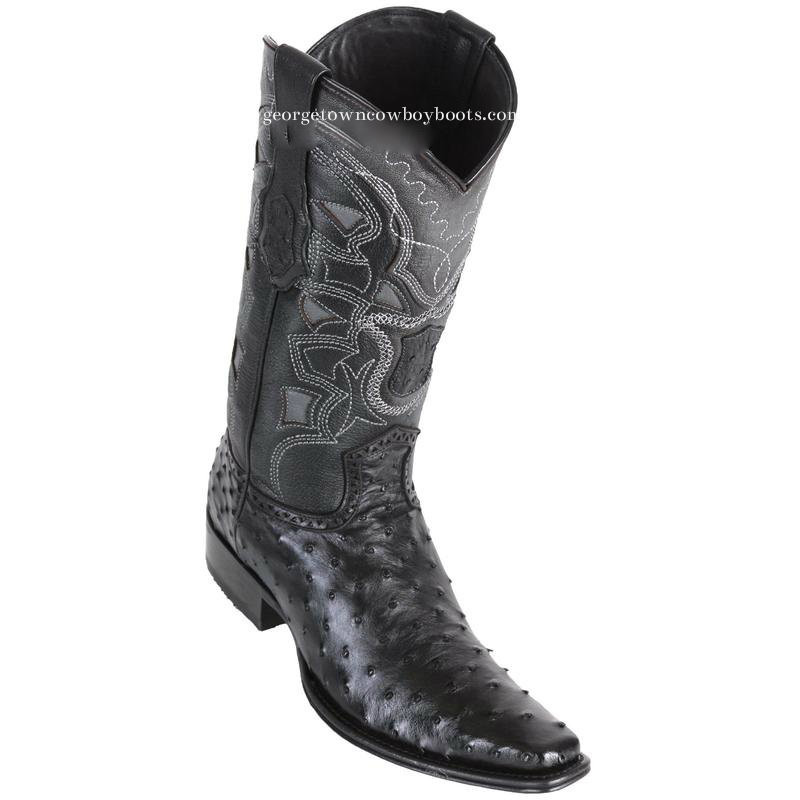 41446e13487 Men's Los Altos Full Quill Ostrich Boots European Square Toe Handcrafted  760305