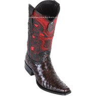 Men's Los Altos Full Quill Ostrich Boots European Square Toe Handcrafted 760318