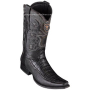 Men's Los Altos Caiman Belly Boots With Deer European Square Toe Handcrafted 76F8205