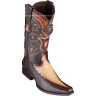 Men's Los Altos Caiman Belly Boots With Deer European Square Toe Handcrafted 76F8215