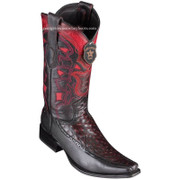 Men's Los Altos Full Quill Ostrich Boots With Deer European Square Toe Handcrafted 76F0318