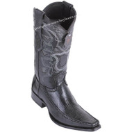Men's Los Altos Ring Lizard Boots With Deer European Square Toe Handcrafted 76F0605