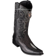 Men's Los Altos Stingray Boots With Deer European Square Toe Handcrafted 76F1205