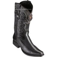 Men's Los Altos Stingray Boots With Deer European Square Toe Handcrafted 76F1105