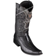 Men's Los Altos Ostrich Leg Boots With Deer European Square Toe Handcrafted 76F0505