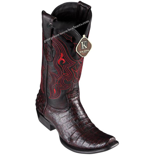 Men's King Exotic Caiman Belly Boots Dubai Toe Handcrafted 4798218