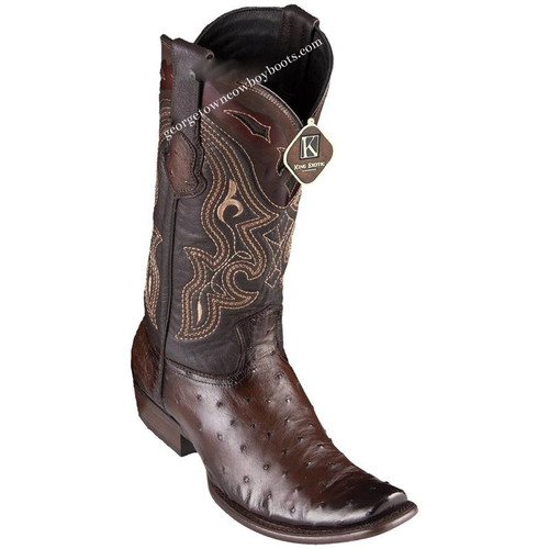 Men's King Exotic Ostrich Boots Dubai Toe Handcrafted 4790307