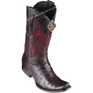 Men's King Exotic Ostrich Boots Dubai Toe Handcrafted 4790318