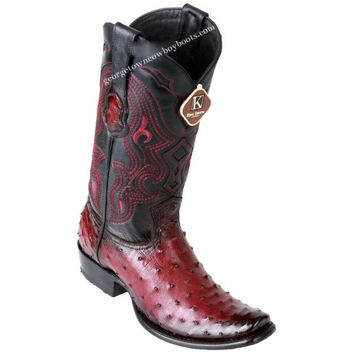 Men's King Exotic Ostrich Boots Dubai Toe Handcrafted 4790343