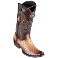 Men's King Exotic Ostrich Boots Dubai Toe Handcrafted 4790315