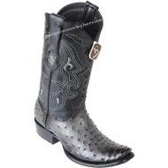 Men's King Exotic Ostrich Boots Dubai Toe Handcrafted 4790338