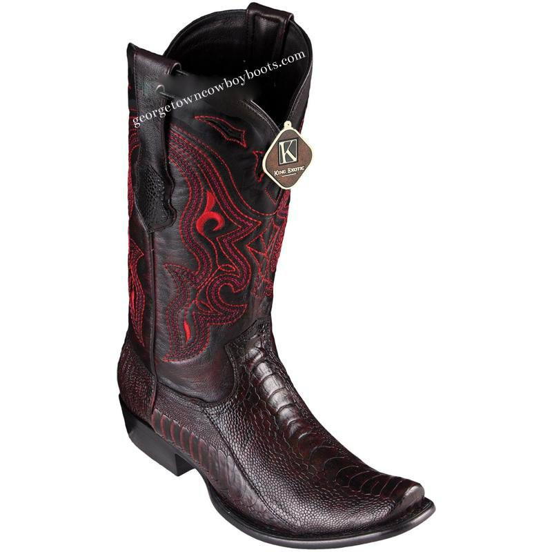 87294b0c286 Men's King Exotic Ostrich Leg Boots Dubai Toe Handcrafted 4790518