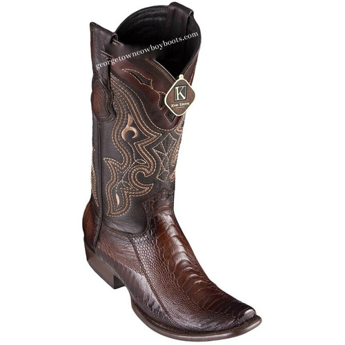 Men's King Exotic Ostrich Leg Boots Dubai Toe Handcrafted 4790507
