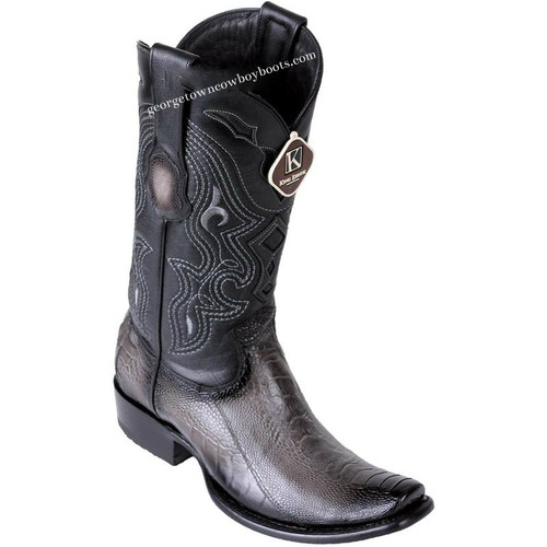 Men's King Exotic Ostrich Leg Boots Dubai Toe Handcrafted 4790538