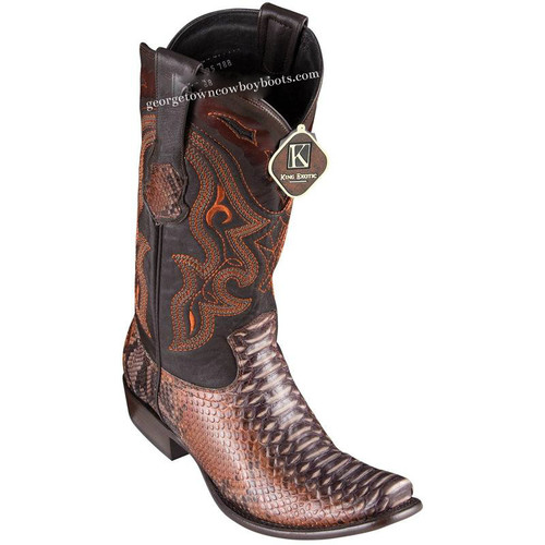 Men's King Exotic Python Boots Dubai Toe Handcrafted 4795788