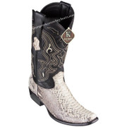 Men's King Exotic Python Boots Dubai Toe Handcrafted 4795749