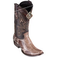 Men's King Exotic Python Boots Dubai Toe Handcrafted 4795785