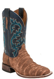 LUCCHESE SINCE 1883 MENS BRANDY CAIMAN GIANT ALLIGATOR COWBOY BOOTS M4344