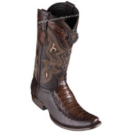 Men's King Exotic Caiman Belly Boots With Deer Dubai Toe Handcrafted 479F8216