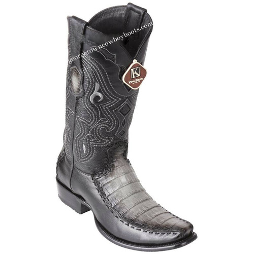 Men's King Exotic Caiman Belly Boots With Deer Dubai Toe Handcrafted 479F8238