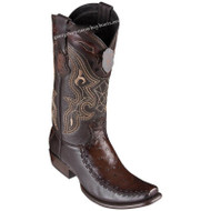 Men's King Exotic Ostrich Boots With Deer Dubai Toe Handcrafted 479F0316