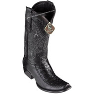 Men's King Exotic Ostrich Boots With Deer Dubai Toe Handcrafted 479F0305