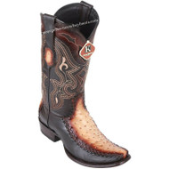 Men's King Exotic Ostrich Boots With Deer Dubai Toe Handcrafted 479F0315