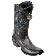 Men's King Exotic Ostrich Leg Boots With Deer Dubai Toe Handcrafted 479F0538