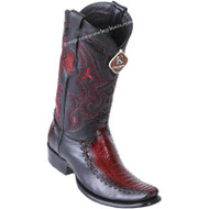 Men's King Exotic Ostrich Leg Boots With Deer Dubai Toe Handcrafted 479F0543