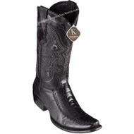 Men's King Exotic Ostrich Leg Boots With Deer Dubai Toe Handcrafted 479F0505