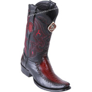 Men's King Exotic Ostrich Leg Boots With Deer Dubai Toe Handcrafted 479F0518